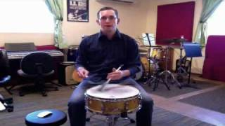 The Classic Swing Pattern On Snare With Brushes