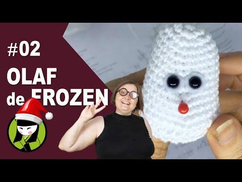OJOS de OLAF AMIGURUMI 2 frozen a crochet