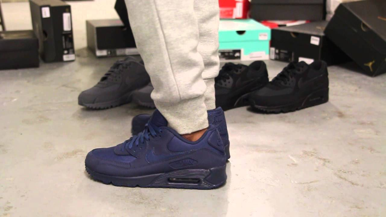 14b20277067a2f ... clearance nike air max 90 essential midnight navy on feet video at  exclucity youtube f6805 ffcf6
