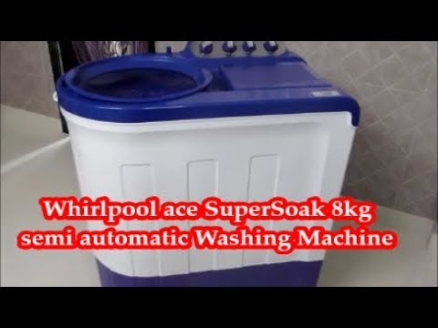 Whirlpool Washing Machine (Ace Supersoak 8 kg) Unboxing and Full detail Review (hindi)