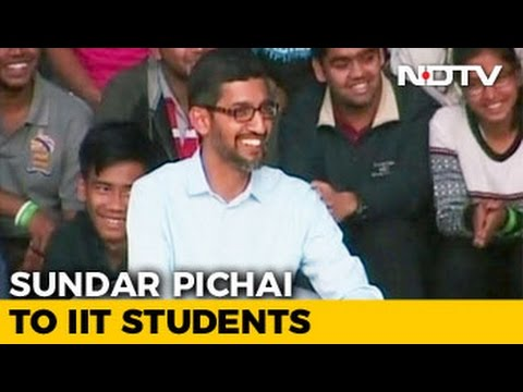 What Google CEO Sundar Pichai Said To IIT Students