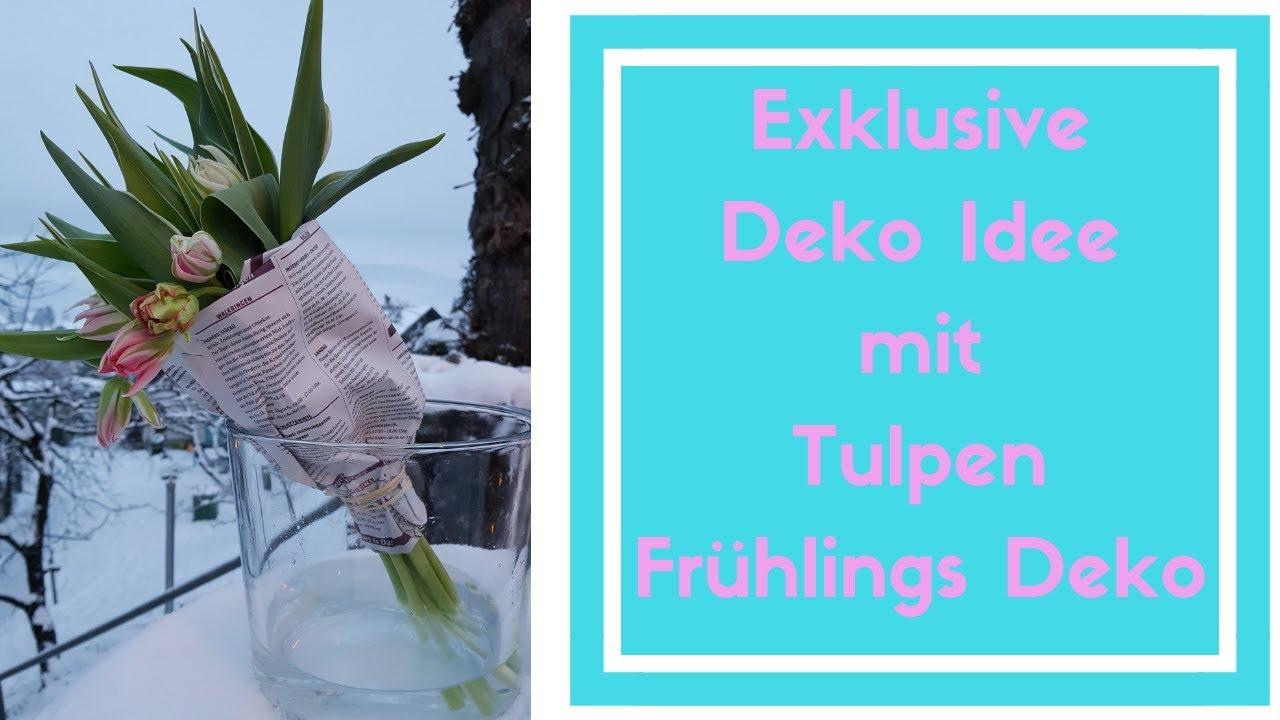 Tulpen Kreation Upcycling Deko Idee Fruhling 2019 Selber Dein