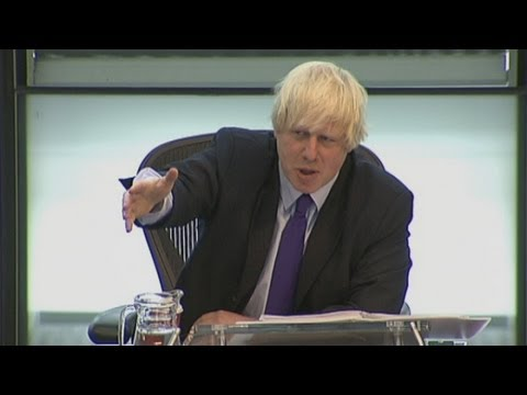 "Boris Johnson tells London Assembly's Andrew Dismore to ""get stuffed"""
