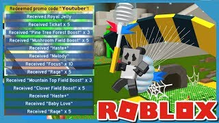 Secret Youtuber Codes | Roblox Bee Swarm Simulator