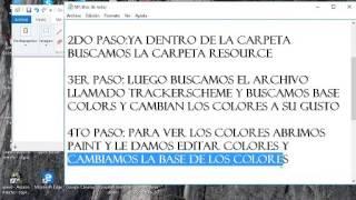como cambiar colores del menu    del cs 1.6