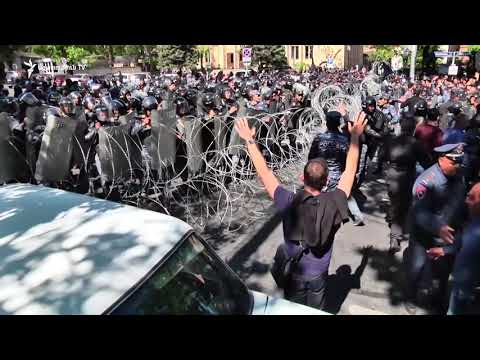 Opposition Protesters, Riot Police Clash In Armenia