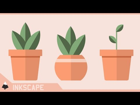 [Inkscape Tutorial Break Down] Flat Design Potted Plants | Illustrator CC Tutorial thumbnail
