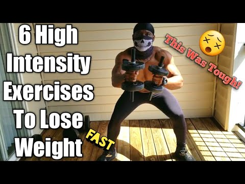 6 High Intensity Exercises To Lose Weight Fast!! *Quarantine Edition*