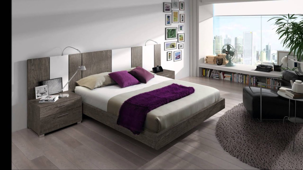 Chambre coucher moderne youtube for Modele de chambre adulte