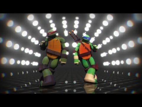 [MMD - TMNT] Rihanna - Umbrella (remix) [Raph And Leo]