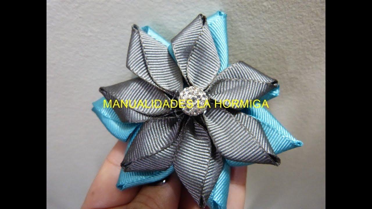 Como hacer flor cinta gros tutorial flor puntas facil how - Material para hacer diademas ...