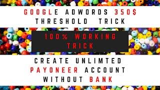 Google Adwords 350$ Threshold …