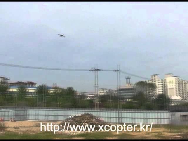Smart Xcopter flying test 2011.05.24.E02 VTOL UAV QuadCoper