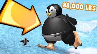 BECOMING THE BIGGEST PENGUIN EVER!! *I️ BROKE THE GAME* (Roblox Penguin Simulator)