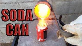 Molten Copper vs Coke Coca-Cola Soda Can