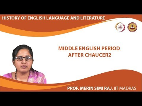 Lecture 3a - Middle English period after Chaucer