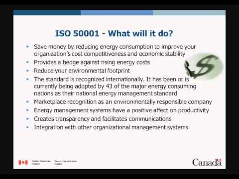 ISO 50001: Approach to Certification and Energy Cost Reduction Incentives