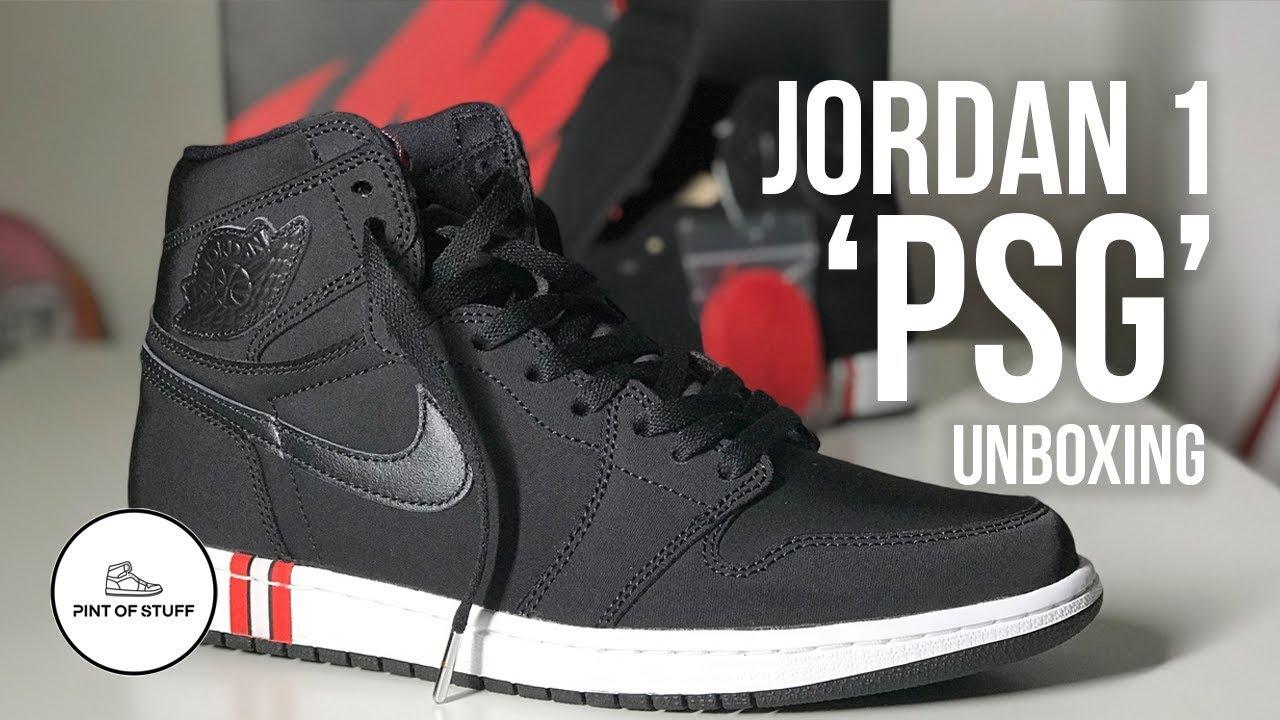 jordan 1 retro high paris saint germain psg sneaker unboxing