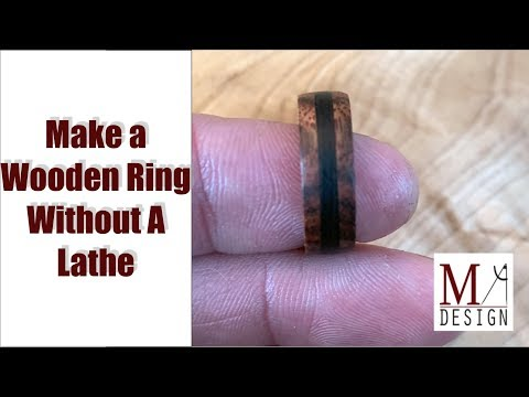 Make A Wooden Ring Without A Lathe // Woodworking How To