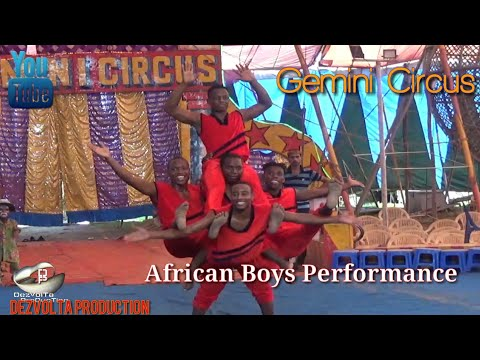 African Boys Performance in circus || Gymnastics Stunts and Entertainment