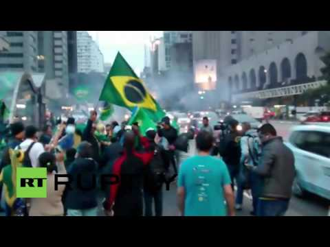 Brazil: Rousseff opponents celebrate her suspension in Sao Paulo