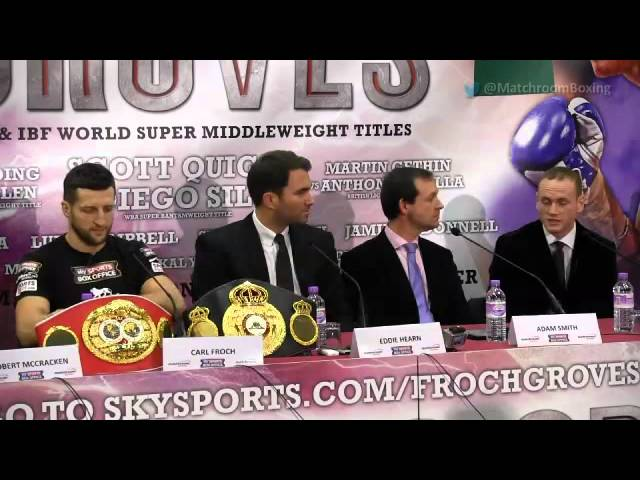 Heated Froch v Groves final press conference