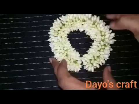 (Mullai poo)Different method to tie flower garland