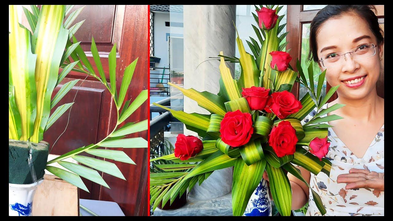 Cách cắm bình Hoa Hồng để bàn thờ | Hướng dẫn cắm hoa