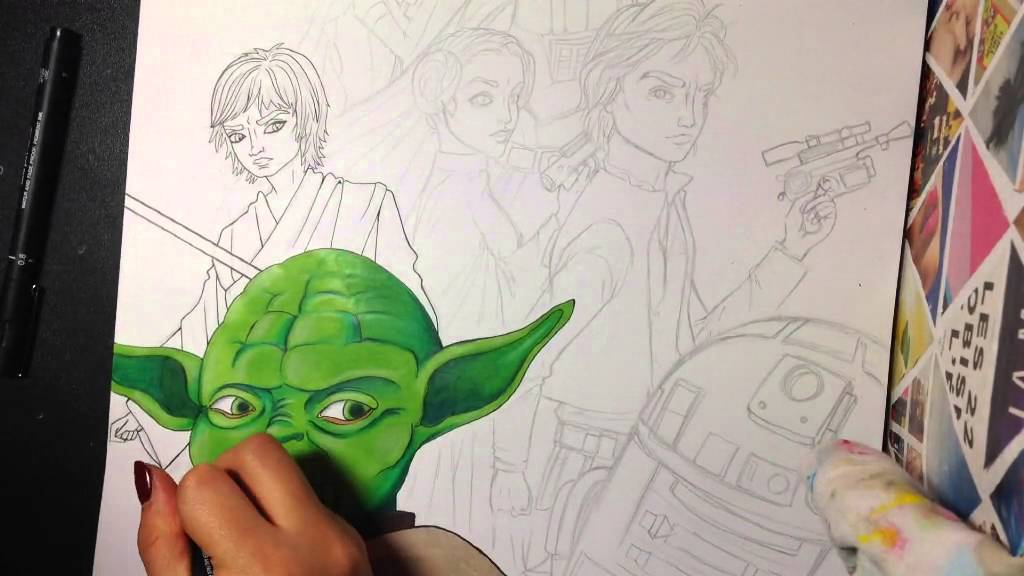 Dessin Personnages Mythiques Preferes Star Wars Youtube