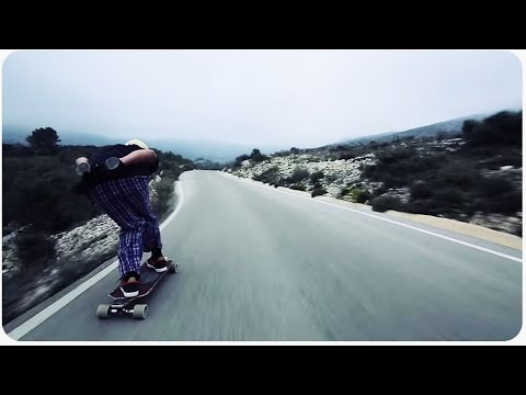 Downhill Longboarding CRAZY Near Miss | Just Around the River Bend