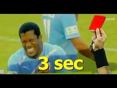 Video de chat drole - top 5 les plus rapides cartons rouges dans le football!!