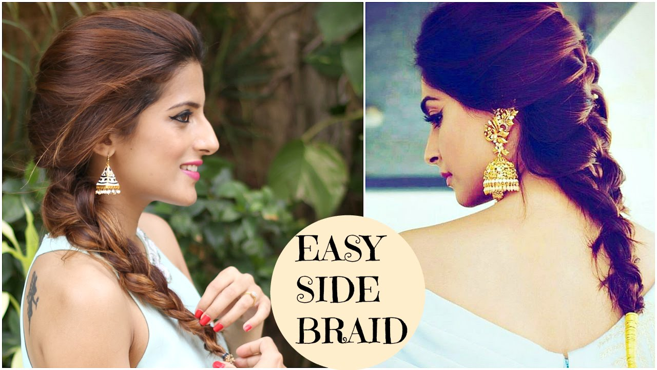 Sonam Kapoors EASY Side Twist Hairstyle