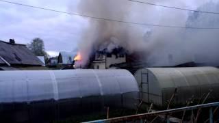 Тюмень. Пожар на ул. Кремлёвской 07.05. 2016