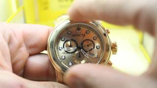 Video Relógio Invicta Men's 0074 Pro Diver Chronograph 18k Gold-Plated Stainless Steel Watch download MP3, 3GP, MP4, WEBM, AVI, FLV April 2018