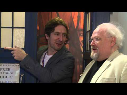 Doctor Who Stars Colin Baker & Paul McGann visit the TARDIS