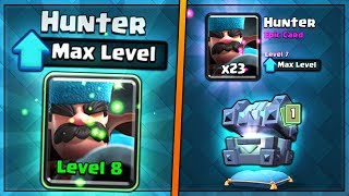 FULLY MAXED NEW HUNTER UPGRADE! | Clash Royale | BIG NEW UPDATE CHEST OPENING SPREE!