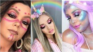 TOP 7 Melhores Maquiagens de carnaval 🎉🎊 Maquiagem para carnaval 2019