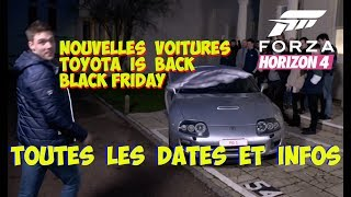 Forza Horizon 4 Nouvelles voitures  - Toutes les dates
