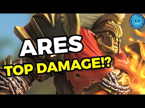 SMITE A-Z! ARES DAMAGE MY GOD! Ares Gameplay, Guide and Build! (Season 4)