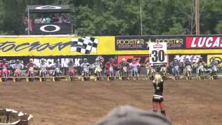 Crash Motocross millville 450cc Holeshot... First Corner Crash