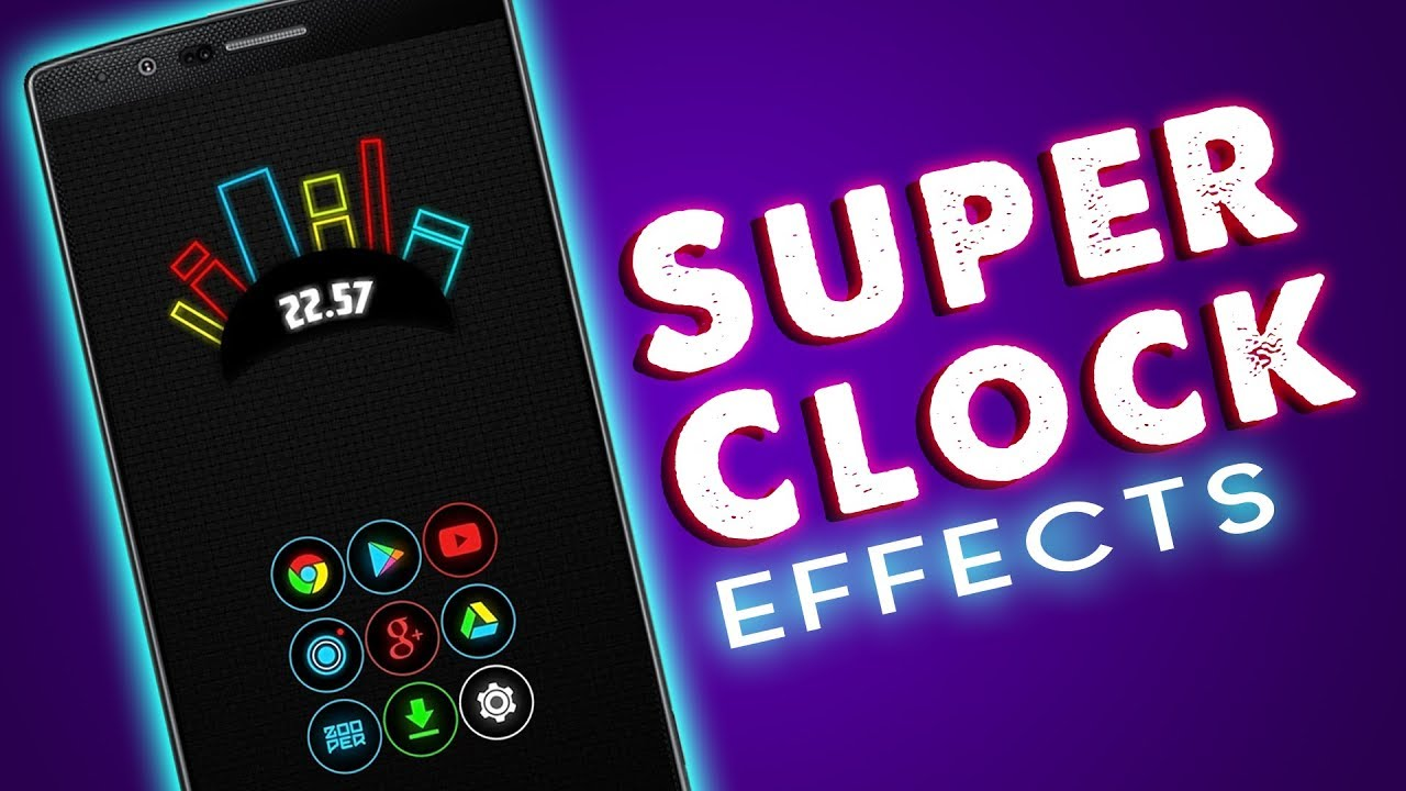 Neon Clock Widget || Best Widget For Android 2018 - Tube Leader