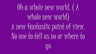 A Whole New World Nick and Jessica Lyrics