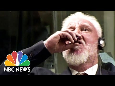 War Crimes Suspect Slobodan Praljak Claims To Have Taken Poison In Court | NBC News