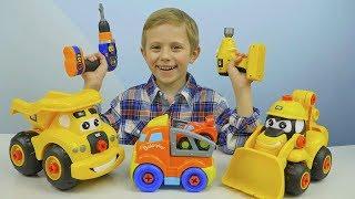 МАШИНКИ и Мастер Даник собирают АВТОВОЗ - Развивающее видео для детей про Машинки