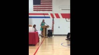 Taylor chambers at Haggard MS Recognition