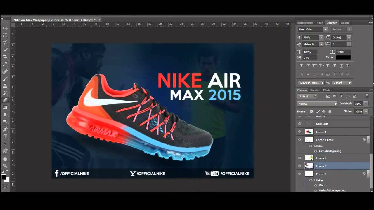 nike air max shoes photoshop