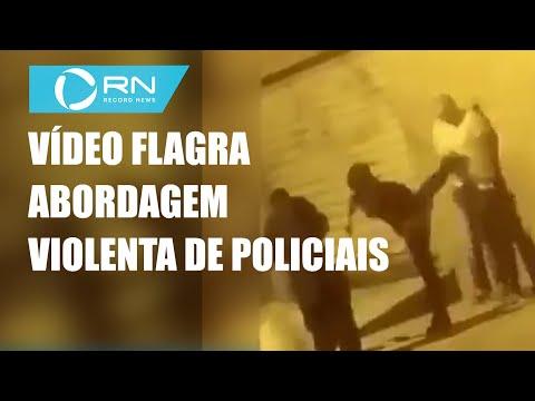 Vídeo flagra abordagem violenta de policiais