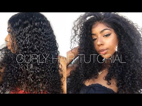 EASY CURLY HAIR ROUTINE  BOMB MALAYSIAN CURLY HAIR  FT BEAUTY FOREVER HAIR
