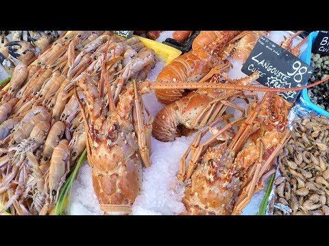 Nice, France. Biggest Fresh Fish Market On Christmas Days