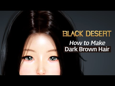 black desert online how to make dark brown hair